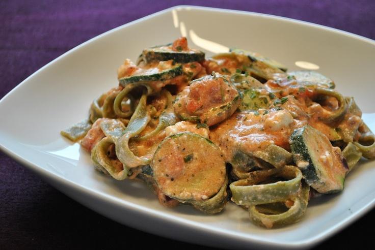 Küchenzaubereien: Italienische Nudelpfanne mit Zucchini & Feta