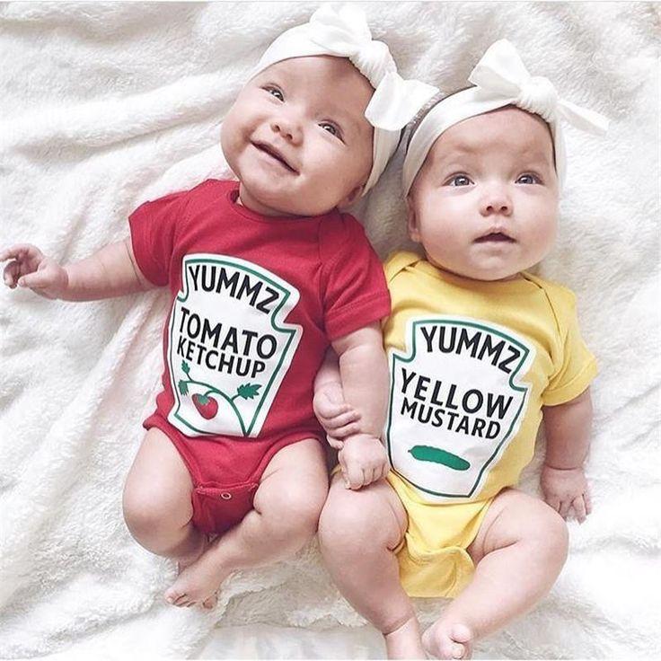 Body Ketchup et Moutarde trop marrants pour les jumeaux.