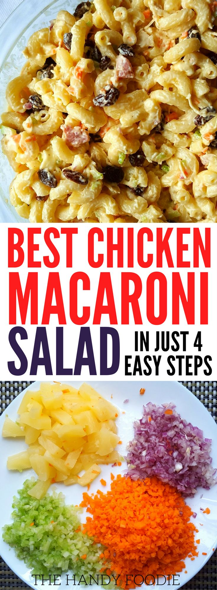 Easy best chicken macaroni salad as yummy appetizer or dinner. It's so simple you can make it in 30 minutes or less. healthy food l classic macaroni salad l salad recipes l 30 minute meals l Perfect for warm summer nights, backyard barbecues and potlucks. | healthy recipes | | clean eating | | vegetarian salad | | chopped salad recipes . Click here to view full post. #salad #healthyeating #healthyfood #yummy #tasty