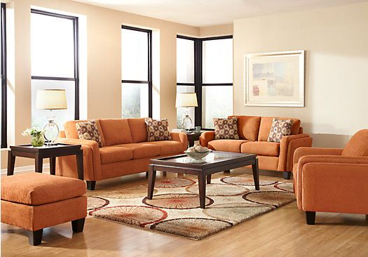 Shop for a cindy crawford home bella via clay 7 pc living room at rooms to go find living room for Rooms to go cindy crawford living room