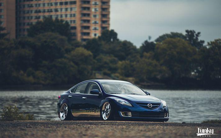 Download wallpapers Bens Mazda 6, tuning, low rider, stance, Mazda 6, supercars, Mazda6