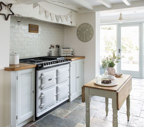 Joy Interiors As Featured In House Beauitful Pea Slate Tiles Laid The Opus Country Cottage Kitchenscabin