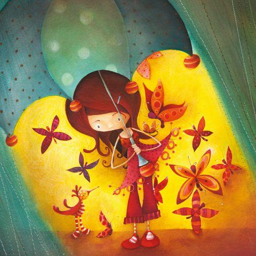 Ketto - Fille Parapluie - Cartes régulières