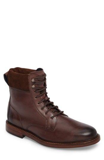 COLE HAAN MEN'S COLE HAAN TYLER GRAND PLAIN TOE BOOT. #colehaan #shoes #