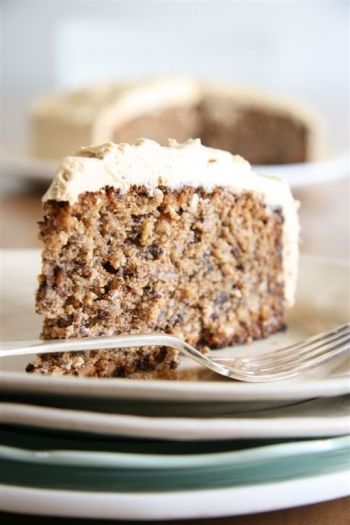 Coffee, Chocolate and Walnut Cake