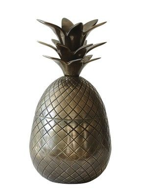 JAR PINEAPPLE BRASS (6-PACK) #14W7