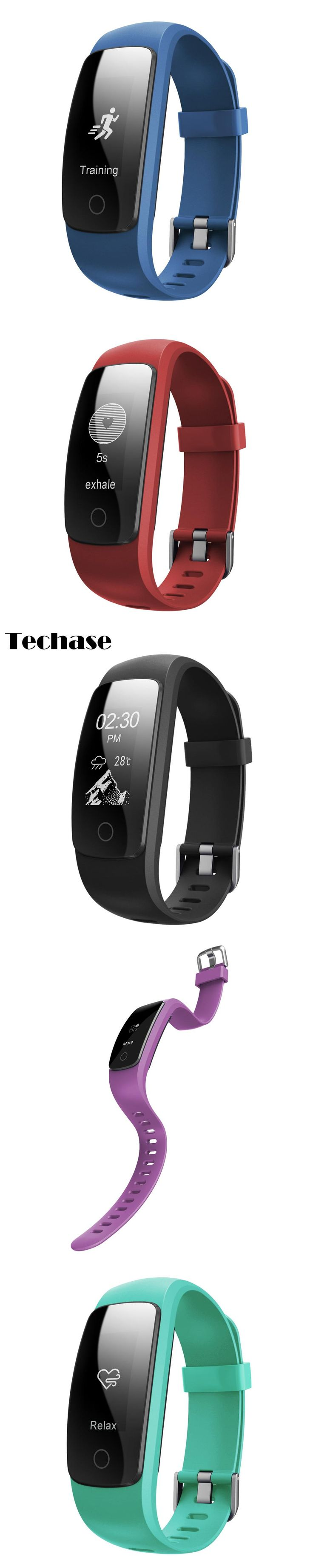 Techase 2017 New ID107 Plus HR Cicret Bracelet Heart Rate Monitor Fitness Watch GPS Tracker Pulseira Inteligente Rastreador Saat
