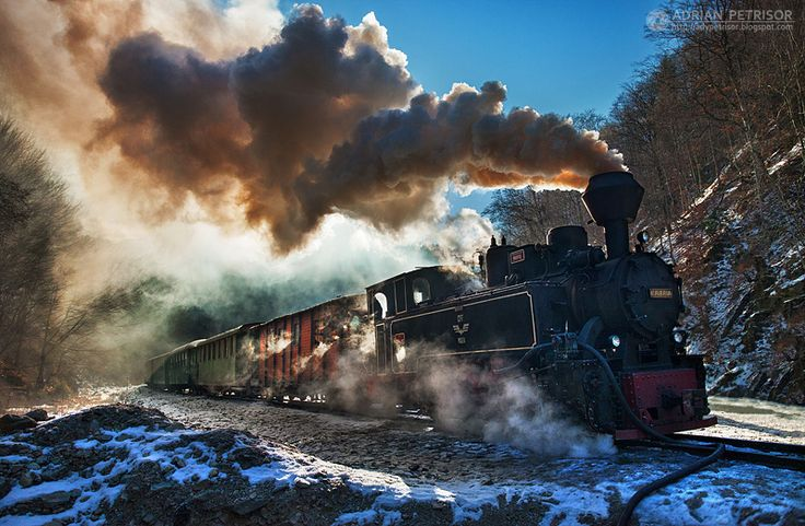 Steam train in Maramures 05 by adypetrisor.deviantart.com on @deviantART