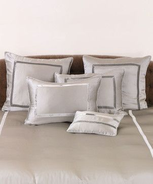 Silk Velvet Pillow Cover - Euro - Raindrop - transitional - Bed Pillows And Pillowcases - Bliss Home & Design