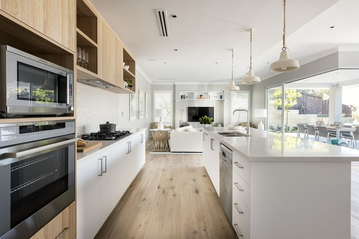Open kitchen at The Islander display home by Webb & Brown-Neaves.