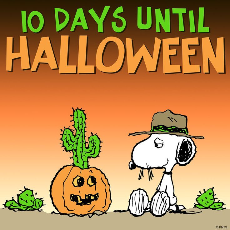 10 days until halloween - Charlie Brown Halloween Cartoon