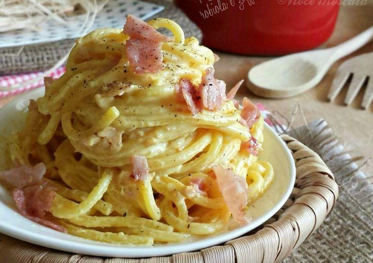 Spaghetti robiola cotto e zafferano