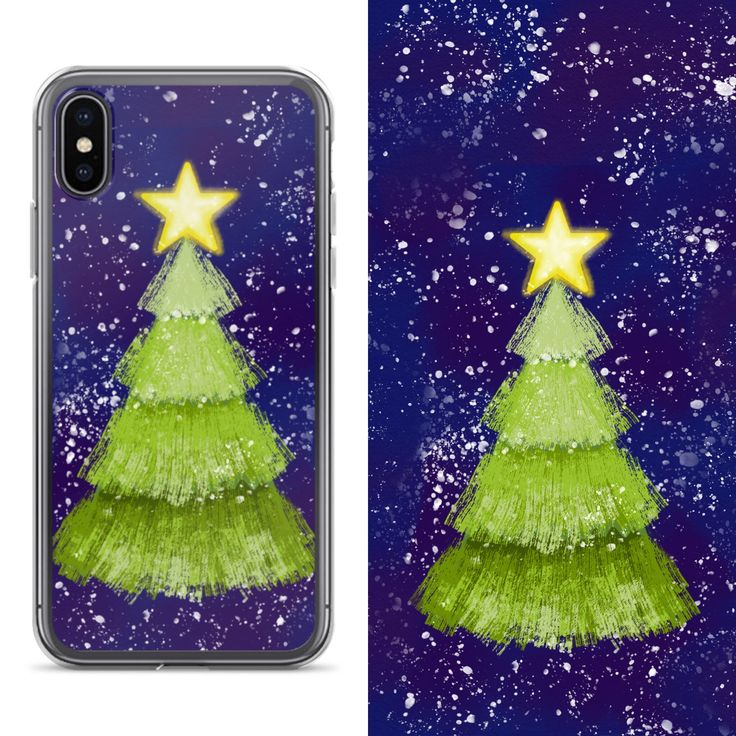 Excited to share the latest addition to my #etsy shop: iPhone X iPhone 5 6 7 8 Plus Samsung Cell Phone Case, Christmas Tree Design, Christmas Holiday Gift, Mobile Phone Cover, Cute Gift for her