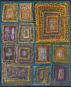 100 year old aboriginal artist, Loongkoonan