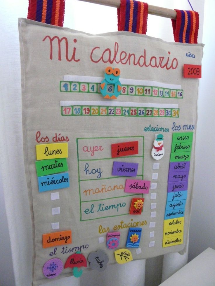 M s de 25 ideas incre bles sobre calendario preescolar en for Calendario manualidades