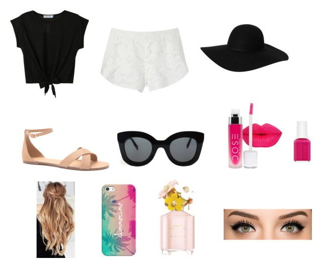 """Summer Day Outfit"" by bb123456789 ❤ liked on Polyvore featuring Forever 21, Monki, Rebecca Minkoff, CÉLINE, Essie, Casetify and Marc Jacobs"
