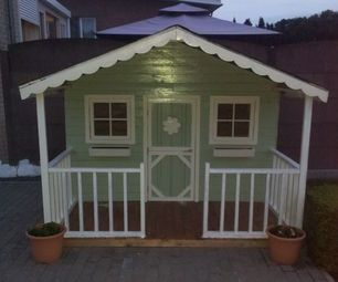 80 best images about play house on pinterest play houses for Building a wendy house from pallets