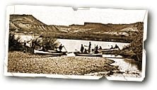 John Wesley Powell: Preparing for an expedition down the Colorado River with three 21 ft wood vessels.    #History #Colorado #Exploration     http://www.uhaul.com/SuperGraphics/60/9/Enhanced/Venture-Across-America-and-Canada-Modern/Wyoming/Preparation
