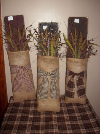 burlap boards country craft ideas