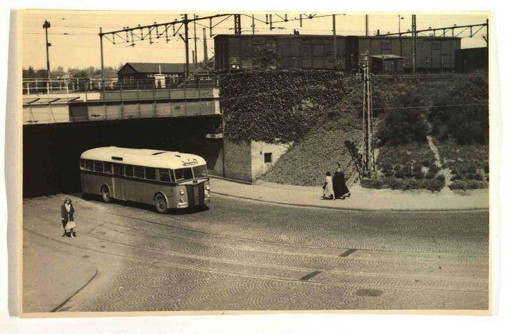 LTM, Heerlen bus op de Parallelweg in 1950
