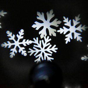 Bloomwin Projecteur Exterieur LED flocon de neige blanc étanche à l'eau IP44 LED Lampe de Projecteur Lumière extérieur intérieur Noël/…
