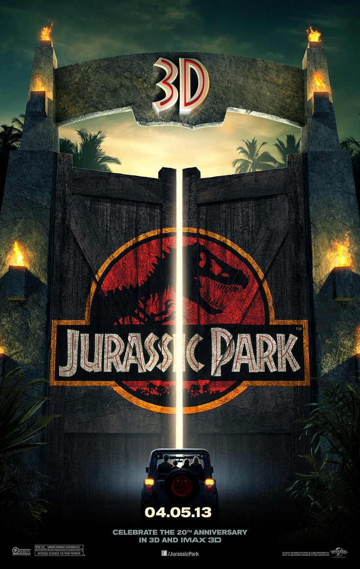 Jurassic Park 3D 2013 poster,  its getting great reviews, check out the trailer now at http://www.deathbyfilms.com/trailers/Alan-Partridge-Alpha-Papa-2013-movie-trailer-and-reviews.php