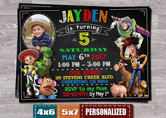Invitan invitación de Toy Story Toy Story cumpleaños de Toy