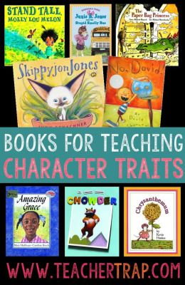 Read alouds for character traits... Any book w/a strong character can be used for teaching traits but here are a few books/authors for character study.