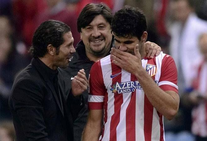 Cholo, Mono Burgos y Diego Costa