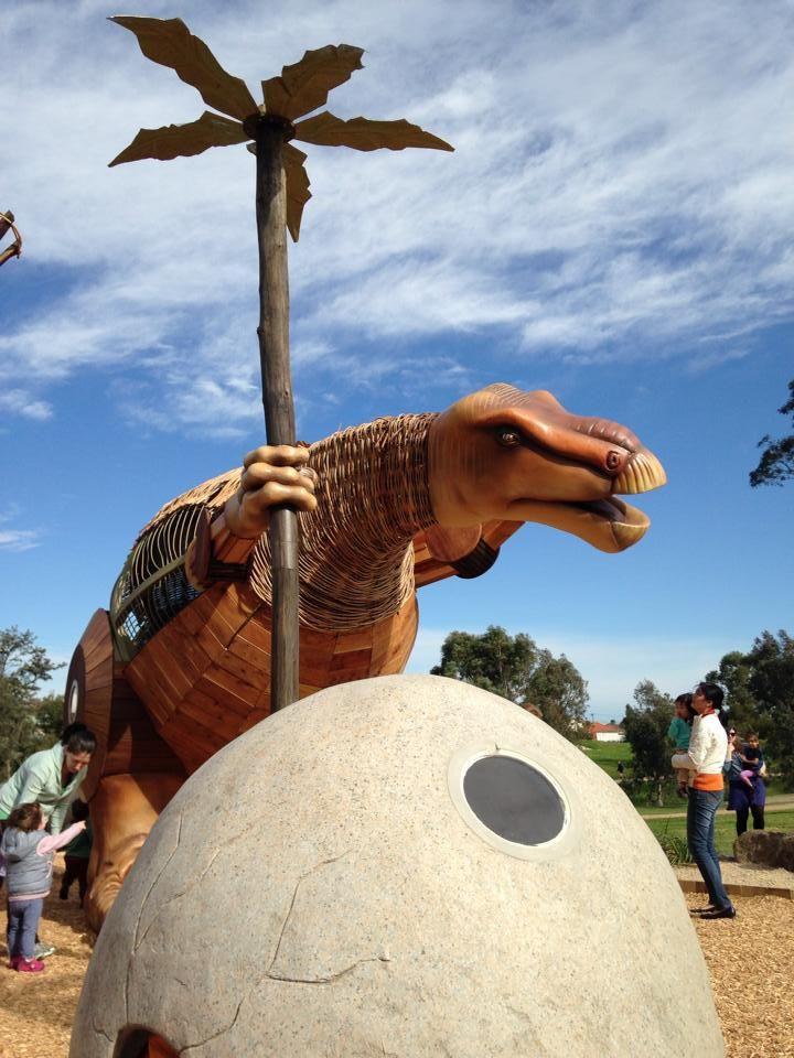 Melbourne WeekendNotes - McNish Reserve Dinosaur Playground - Melbourne Yarraville