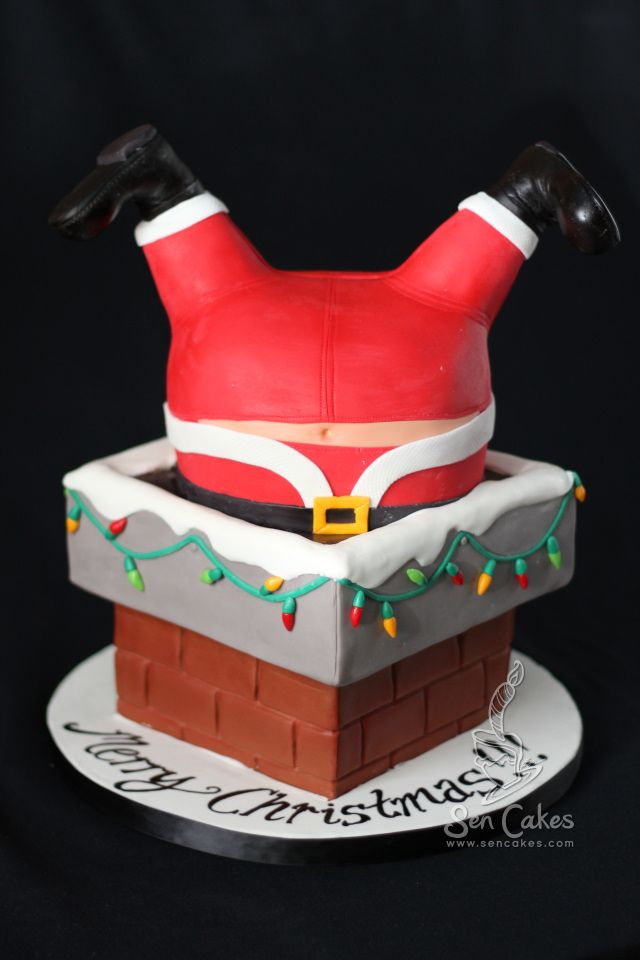 Santa in Chimney