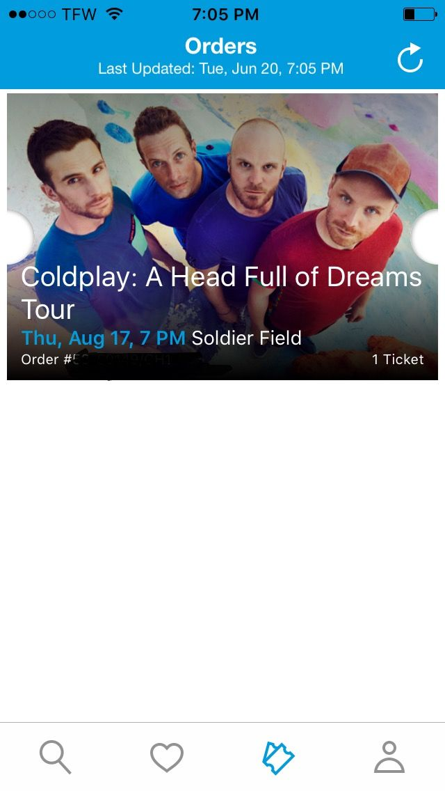VIP COLDPLAY CONCERT TICKET FOR SALE!!! Email me for more info  at haley.henderson01@gmail.com #ticketmaster #coldplay #concert #forsale #aheadfullofdreams #chicago