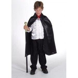 D guisement cape noire satin enfant luxe mixte satin halloween et capes - Deguisement halloween enfant garcon ...