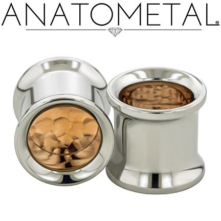 00ga Standard Eyelets in ASTM F-138 stainless steel with Hammered Copper Inserts