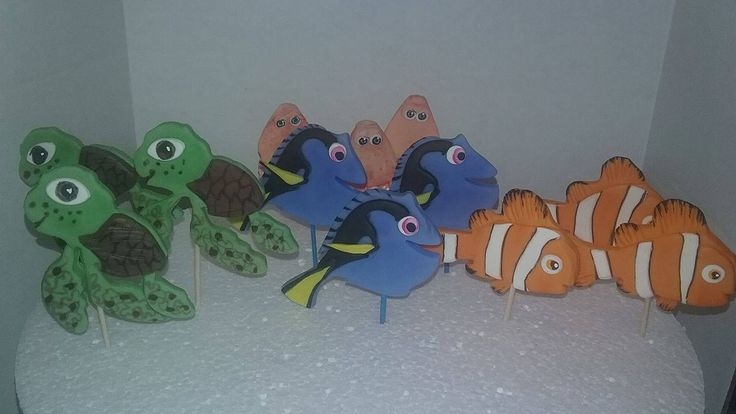 finding Dory cupcakes Decorations/cake toppers by handcraftpartyfavors on Etsy