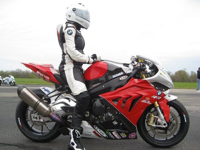 BMW S 1000 RR; now if I were tall enough and weighed enough I could fit and drive one of those bikes for eternity!