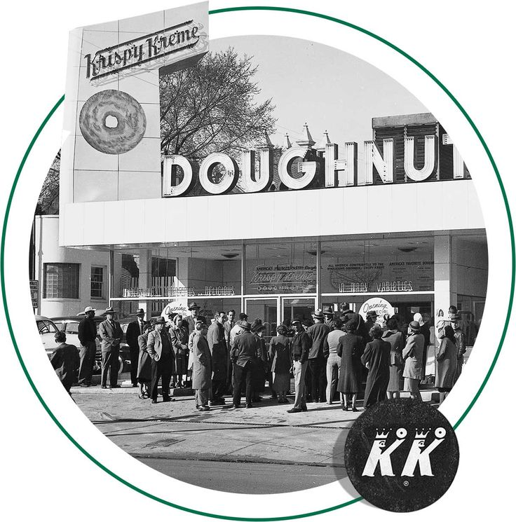 First Krispy Kreme store in Winston Salem NC in 1937.