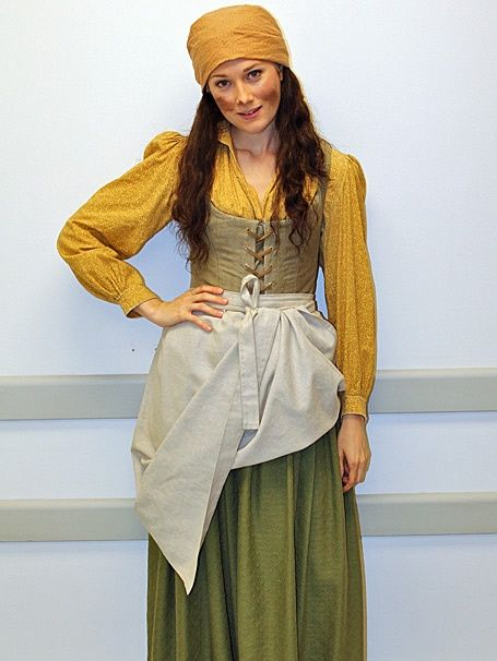 Quick Change - Les Miserables - tour - Lauren Wiley...I like the shirt with the laced bodice