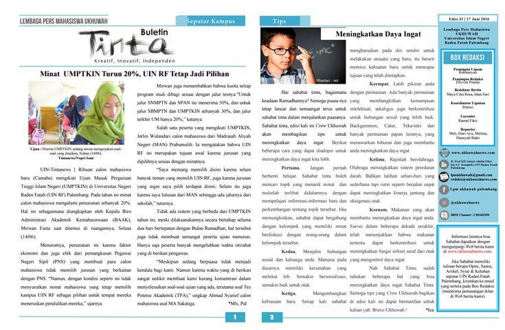 Buletin Tinta Edisi 31, 17 juni 2016