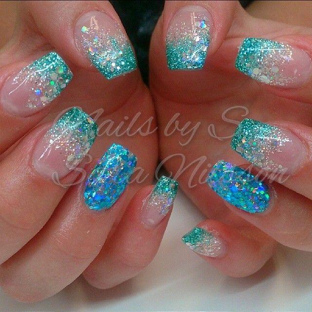 25 best ideas about acrylic nails glitter on pinterest