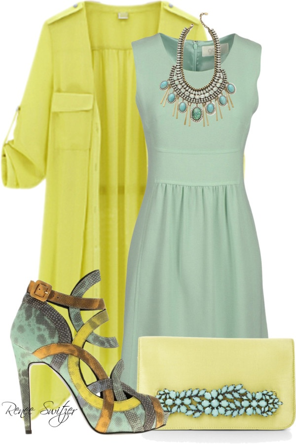 """""""Yellow Trench Coat"""" by renee-switzer ❤ liked on Polyvore"""