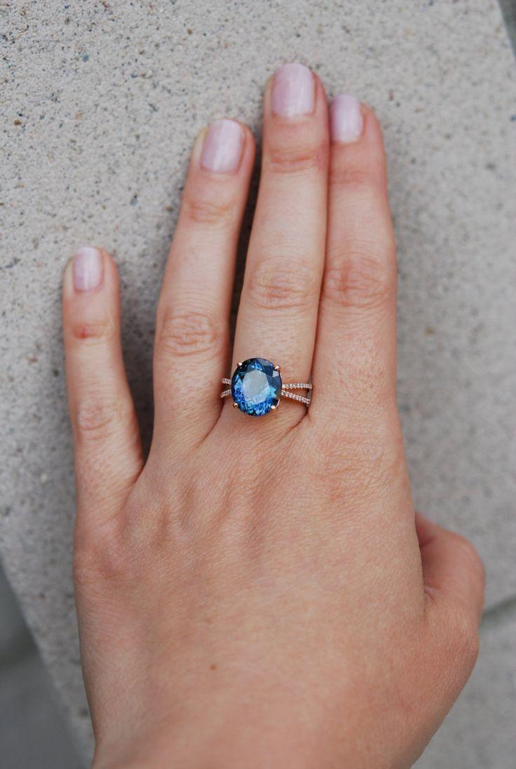 Tanzanite Ring Rose Gold Engagement Ring Gia By Eidelprecious