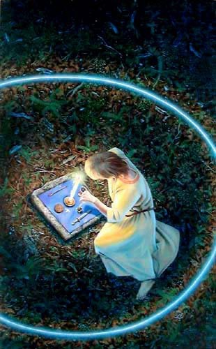 Magick Wicca Witch Witchcraft:  The Magick Circle ~ Some Witches cast circles for protection.  Others may go a step further and call on guardians for their spell workings.
