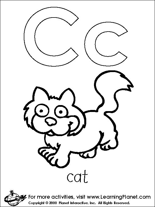 Letters Coloring Page Print Letters
