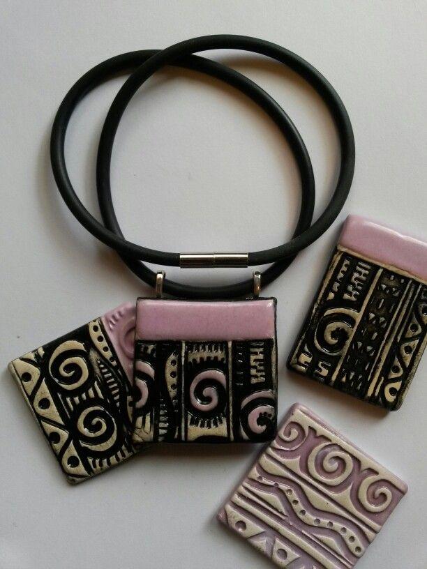 Ceramic pendants by Christine Gittins  www.christinegittins.com