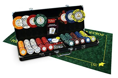 Pack French Riviera 500 jetons Tournament + Tapis Texas Poker vert – SOLDES !: Pack de poker incluant 1 mallette de 500 jetons French…