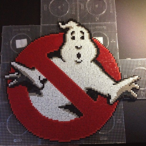 Ghostbusters perler bead sprite by sajagee