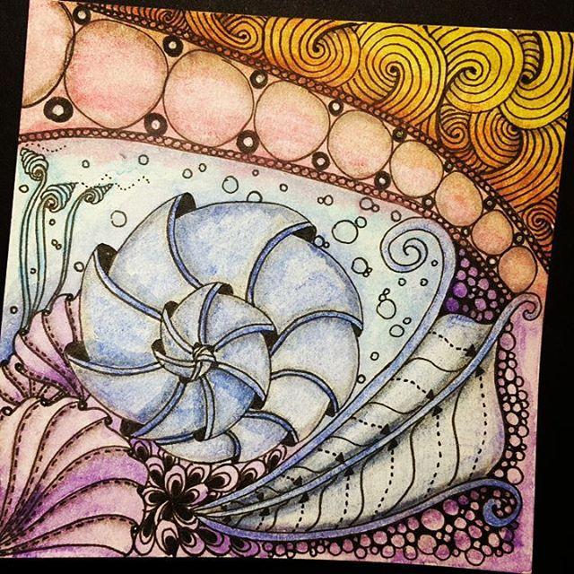 Zntangle 011916.  #zendoodle #zentangle #doodle #doodleart #draw #drawing…