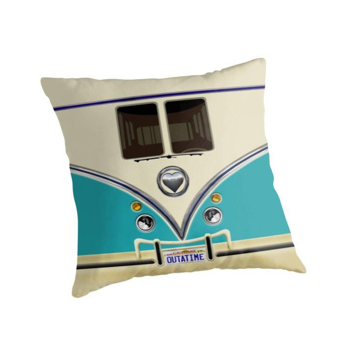 kawaii Blue teal love bug mini bus Throw Pillows @pointsalestore #Pillow #PillowCase #PillowCover #CostumPillow #Cushion #funny #cute #fun #lol #veedub #golf #kombi #minivan #minibus #beetle #bus #camper #retro #splitwindow #van #vintage #bumper #car #lovecar #offroad #campercar #microbus #pickup #transporter