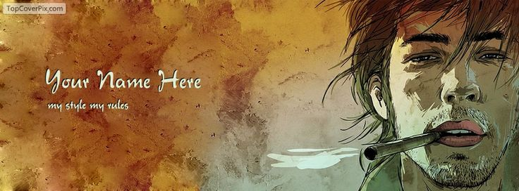 Create your own name cover free for facebook timeline cover on My Style My Rules style.